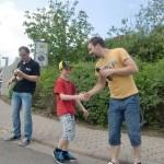 Seifenkistenrennen beim Maifest in Dermbach - Siegerehrung