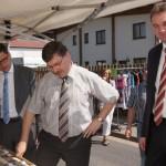 MdB Hirte, Landrat Krebs und Herr Mäurer beim Maifest Dermbach