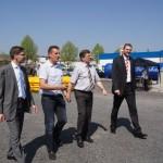 MdB Hirte, Herr Hahn, Landrat Krebs und Herr Mäurer beim Maifest