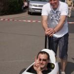 Seifenkistenrennen beim Maifest in Dermbach
