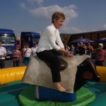 Bull Riding beim Maifest in Dermbach