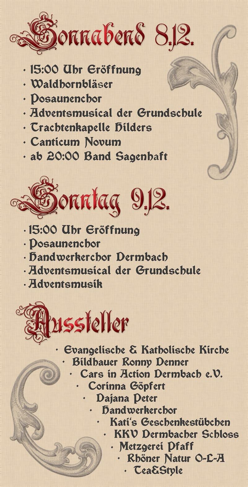 Historischer Weihnachtsmarkt Dermbach 2012